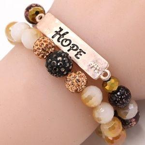 """350-""""Hope"""" Stack Stretch Bracelets"""